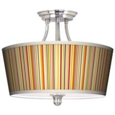 Stacy Garcia Vertical Lemongrass Tapered Drum Ceiling Light