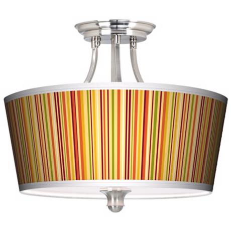 Stacy Garcia Vertical Harvest Stripe Tapered Drum Ceiling Light