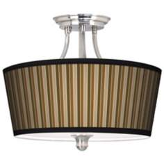 Sorrel Vertical Tapered Drum Giclee Ceiling Light