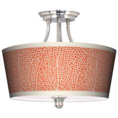 Stacy Garcia Seafan Coral Tapered Drum Giclee Ceiling Light