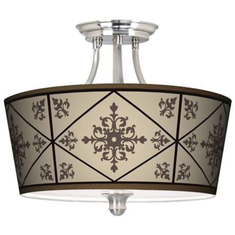 Chambly Tapered Drum Giclee Ceiling Light