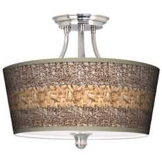 Woven Fundamentals Tapered Drum Giclee Ceiling Light