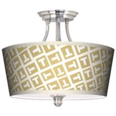 Tee Tumble Tapered Drum Giclee Ceiling Light