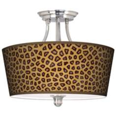 Safari Cheetah Tapered Drum Giclee Ceiling Light