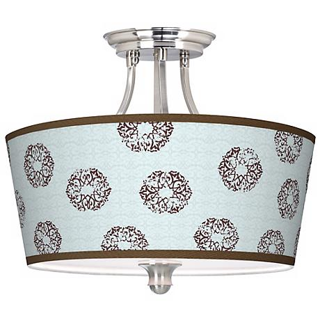 Weathered MedallionTapered Drum Giclee Ceiling Light