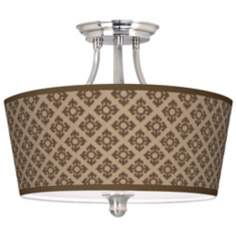 Grevena Tapered Drum Giclee Ceiling Light