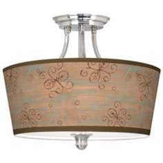 Cedar Lake Tapered Drum Giclee Ceiling Light