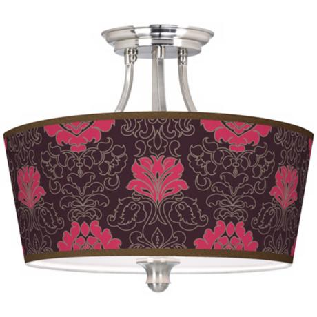 Stacy Garcia Florentia Wild Berry Tapered Drum Ceiling Light