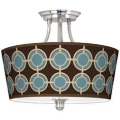 Stacy Garcia Porthole Giclee Tapered Drum Ceiling Light