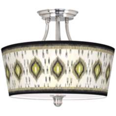 Desert Ikat Tapered Drum Giclee Ceiling Light
