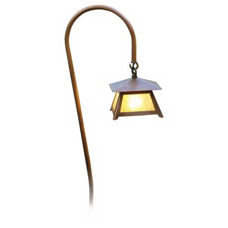 "Crook Arm Copper Lantern 27 3/4"" High Path Light"