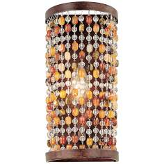 "Karma Glass Beads 11 1/4"" Wall Sconce"