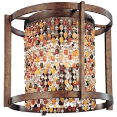 "Karma Glass Beads 13 1/2"" Wide Flushmount Ceiling Light"