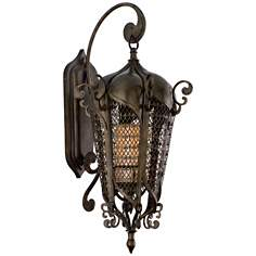 "Corbett Lighting 32"" High Tangiers Outdoor Wall Lantern"