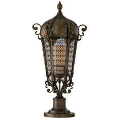 "Tangiers 27 1/2"" High Outdoor Post Mount Lantern"