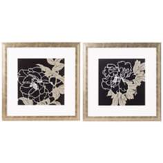 Set of 2 Botanical II Matted Prints Wall Art