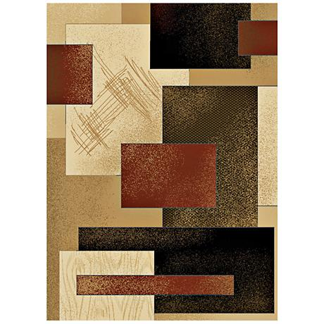 Dark Terra Rhythm Area Rug