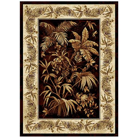 Antilla Tropical Black Area Rug