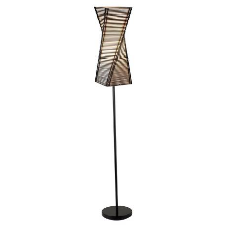 Stix Black Twisted Metal Floor Lamp