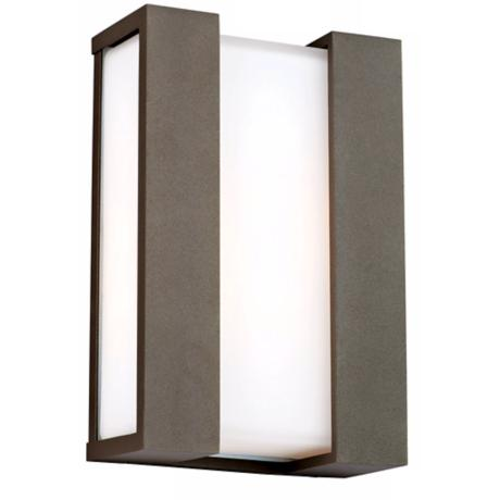 "Newport Collection Bronze 15"" High Outdoor Wall Light"