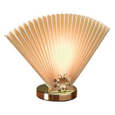 Beige Fan Accent Lamp
