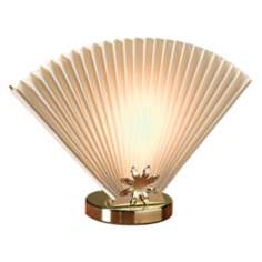Ivory Fan Accent Lamp