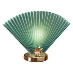 Sage Green Fan Accent Lamp