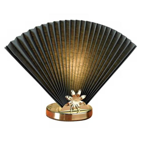 Hunter Green Fan Accent Lamp