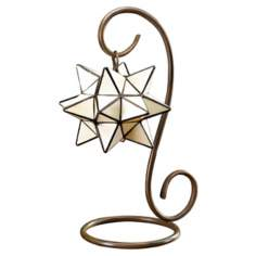 Star Tiffany Style Glass Accent Lamp