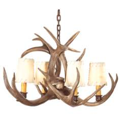 Small Coues Deer Antler Chandelier