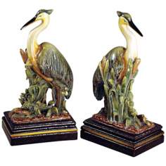 Colored Crane Bookends