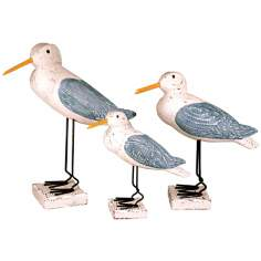 Set of Three Decorative Shore Birds