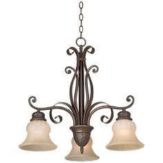 "Franklin Iron Works Curled Ribbons 22"" Wide Chandelier"