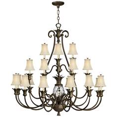 "Hinkley Plantation 22-Light 56"" Wide Pearl Bronze Chandelier"