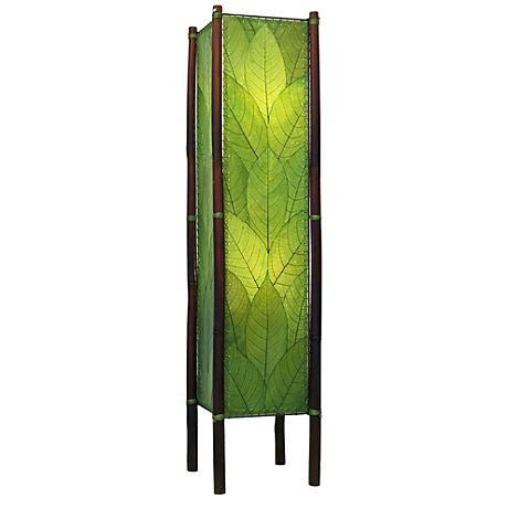 Eangee Fortune Green Cocoa Leaves Tower Floor Lamp