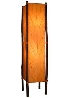Eangee Fortune Orange Cocoa Leaves Tower Floor Lamp