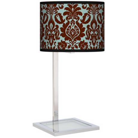 Stacy Garcia Kiwi Tini Florence Glass Inset Giclee Table Lamp