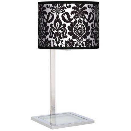 Stacy Garcia Metropolitan Glass Inset Giclee Table Lamp