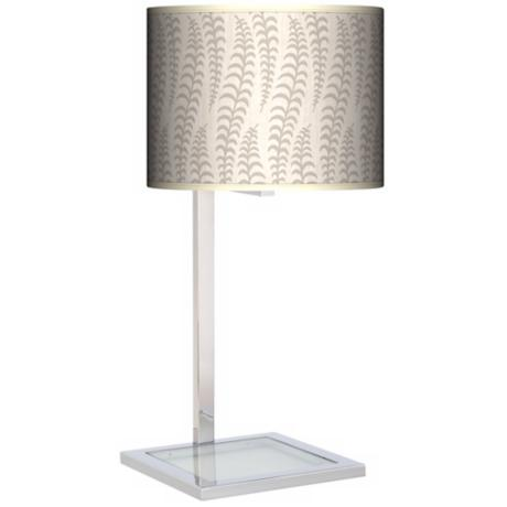 Stacy Garcia Fancy Fern Ice Glass Inset Giclee Table Lamp
