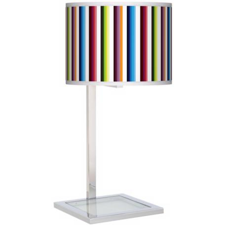 Technocolors Glass Inset Giclee Table Lamp