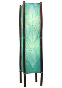 Eangee Fortune Sea Blue Cocoa Leaves Tower Floor Lamp