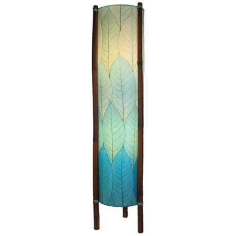 Eangee Hue Series Sea Blue Cocoa Leaves Tower Floor Lamp