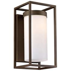 "Cube Collection Bronze 16"" High Outdoor Wall Light"