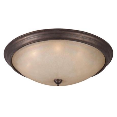 "La Costa Bronze Finish 33"" Wide Flushmount Ceiling Light"
