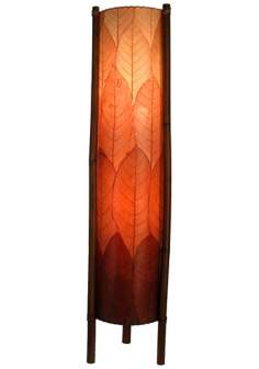 Eangee Hue Series Burgundy Cocoa Leaves Tower Floor Lamp