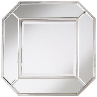 "Cut-Corner Square Mirror Edge 21 1/2"" Wide Wall Mirror"