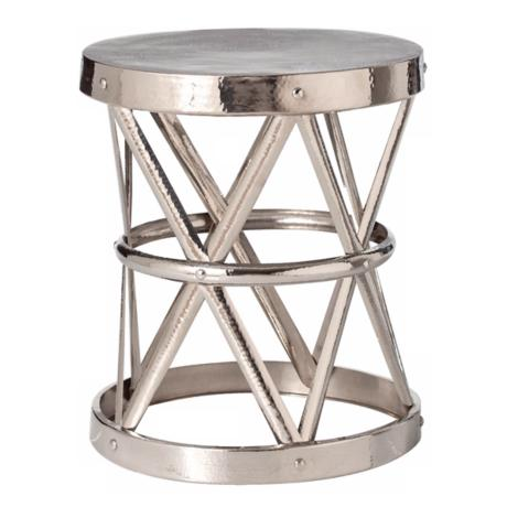Costello Polished Nickel Finish Side Table