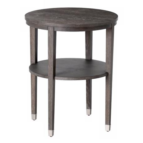 Gentry Gray Finish Limed Oak Side Table