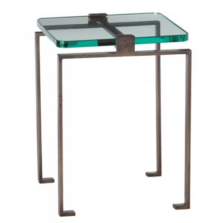Fisher Iron and Glass Accent Table
