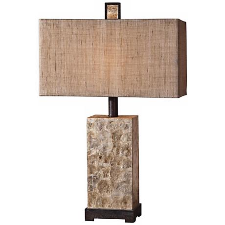 Uttermost Rustic Pearl Dark Bronze Table Lamp